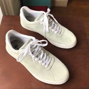 H&M mint suede lace up sneakers